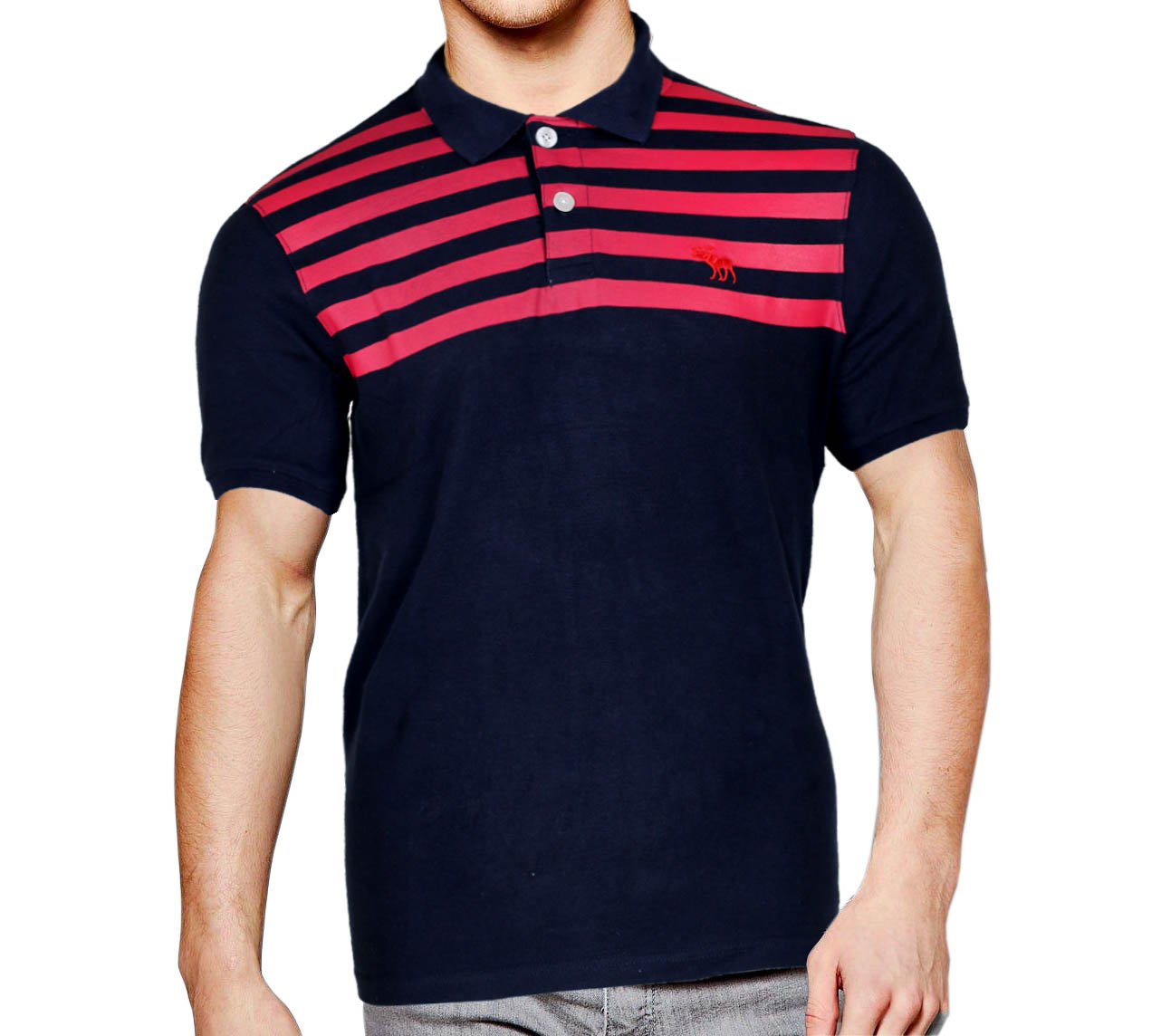 biggest discount professional design many fashionable Black Color Stripe Cotton Polo T-shirt for Men Stylish Design and  Comfortable Export Quality