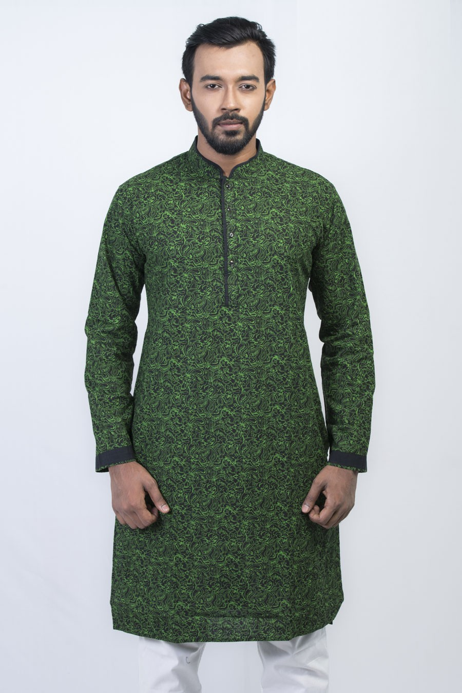 9bd022c5ae5 Cotton Exclusive Men Digital Printed Panjabi with Border Contrasted Collar  LMP121