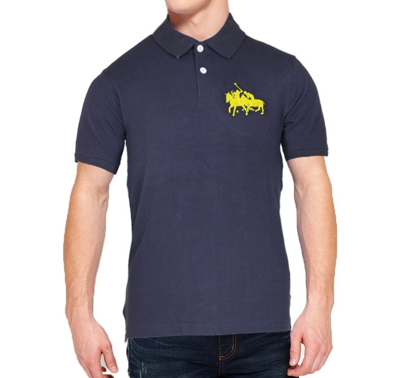 838a7280d Specification  Ralph Lauren Navy Blue Cotton Stylish Design Export Quality  Embroidery Logo On Chest Stripe Polo T-shirt for Men