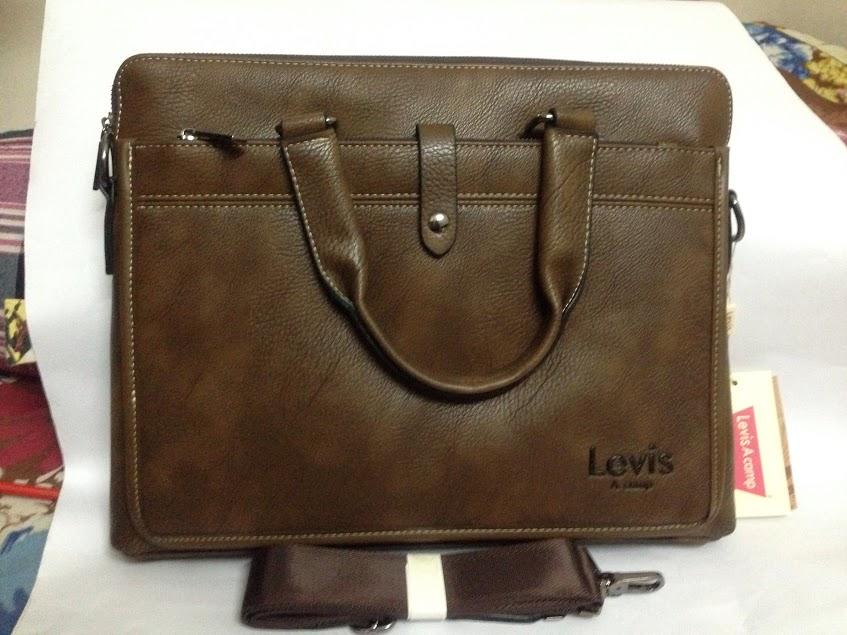 b36527e35d3 ... in Bangladesh Inside 2 Chamber (1 for Lap top) Outside (both side 1/1  Pocket), 2 years guaranty 15/12 inch Size Leather Laptop Bag for Men Women  Both