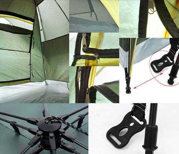 Double Layers One Bedroom Waterproof Index 2000-3000 mm Four-season  Polyester Fabric Tent 100