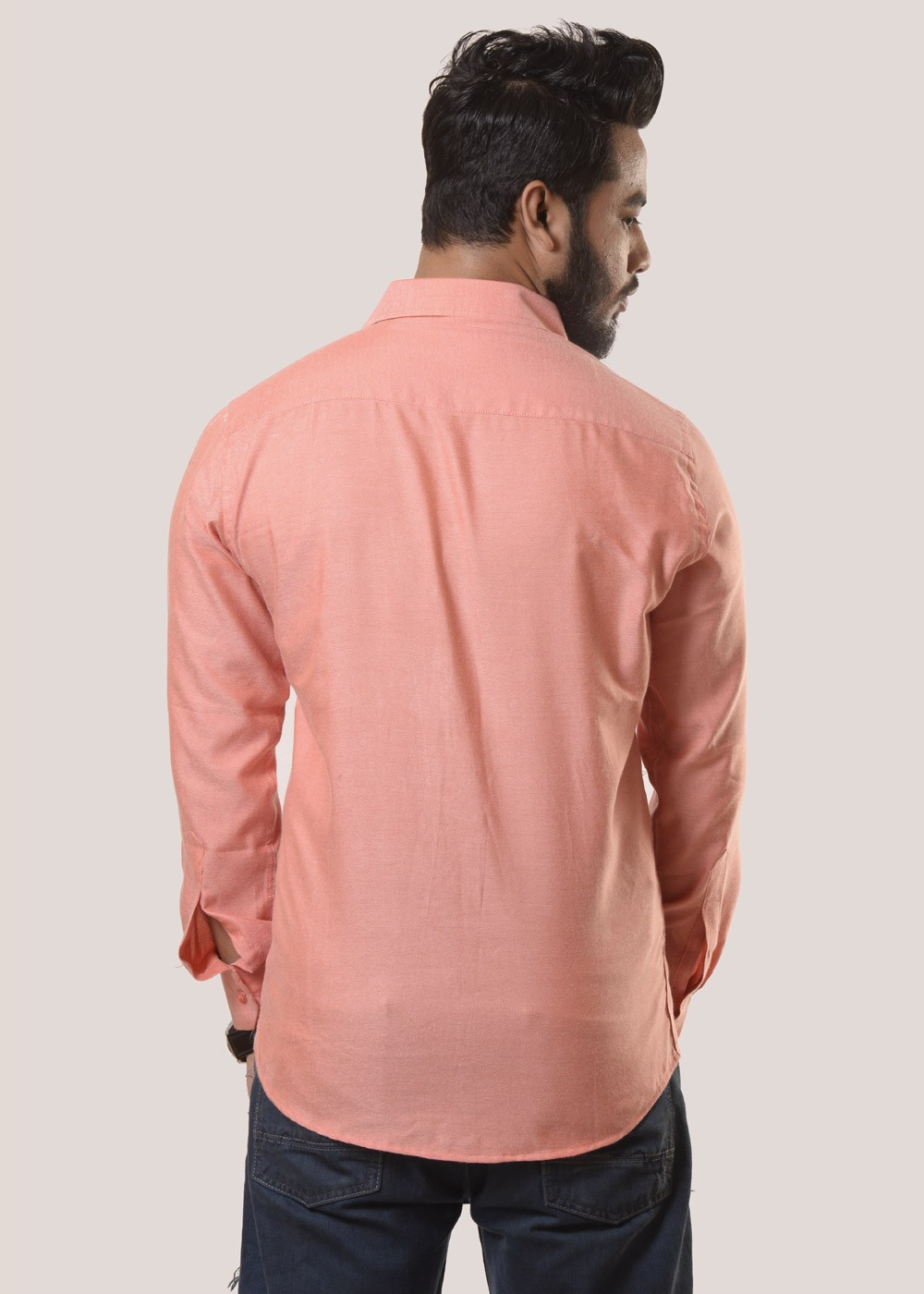 Slim fit red indian color pure cotton summer comfortable for Trim fit tuxedo shirt